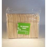 Wooden Disposable Forks 100s (WFORK)