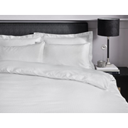 Satin Stripe Fitted Sheet White S/king (SS SKFD/WH)