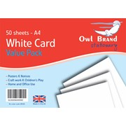 White Card 50 Sheets A4 (OBS08)
