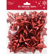 Red Metallic Bows 16s (X-25395-BCC)
