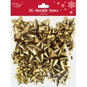 Gold Metallic Bows 16s (X-25401-BC)