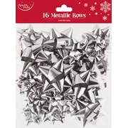 Silver Metallic Bows 16s (X-25404-BC)