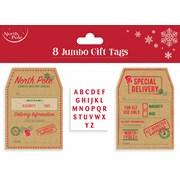 Jumbo Gift Tags 8s (X-25950-GT)