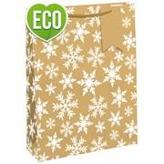 Kraft Snowflake Gift Bag P/fume (X-27402-9C)