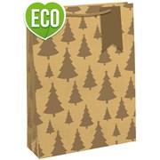 Kraft Gold Tree Gift Bag Bottle (X-27408-4C)