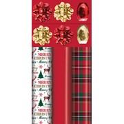 Tartan/red Luxury Roll Wrap Pack (X-27816-GWC)