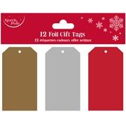 Metallic Foil Gift Tags 12pack (X-28356-GTCC)