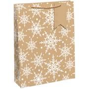 Kraft Snowflake Gift Bag Medium (X-29196-3CC)
