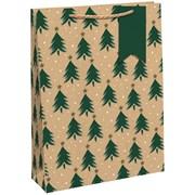 Kraft Xmas Trees  Gift Bag Medium (X-29205-3CC)