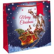 Santa Sleigh Square Gift Bag Jumbo (X-29274-23CC)