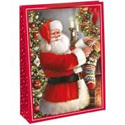 Trad Santa Woven Bag Jumbo (X-29316-25CC)