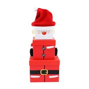 3pce Plush Santa Gift Box (X-29478-BXCC)