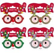 Reindeer Pom Pom Glasses Asstd (X-29628-GLACC)
