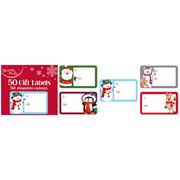 Cute Xmas Gift Label Stickers 50pack (X-29661-GTCC)