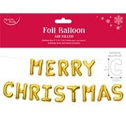 Xmas Foil Letter Balloon Gold 24x35cm (X-29745-BCC)
