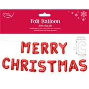 Xmas Foil Letter Balloon Red 24x35cm (X-29751-BCC)