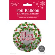 "Merry Xmas Foil Balloon 18"" (X-29754-BCC)"