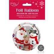 """Cute Xmas Foil Balloon 18"""" (X-29757-BCC)"""