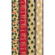 Printed Kraft Roll Wrap 3mt (X-29781-GWCC)