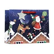 Santa Rooftops Gift Bag L/shop (X-365-LS)
