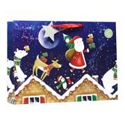 Santa Rooftops Gift Bag X/lge (X-365-XLS)