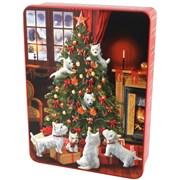 Bramble Scottie Dog Tree Tin Asst Biscuits 400g (X2022)
