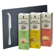 G Wilds Savoury Biscuit Board & Knife 390g (X2287)