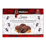 Walkers Dk Chocolate Ginger Royals 150g (X2517)