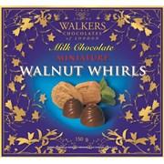 Walkers Milk Choco Walnut Whirls 150g (X618)