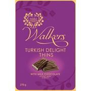 Walkers Choc Turkish Delight Thins Tin 270g (X619)