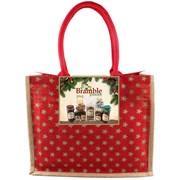 Bramble Jute Red Hamper Bag Large (X932)