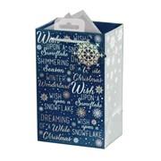 Giftmaker Navy Christmas Text Gift Bag P/fume (XAKGB04P)