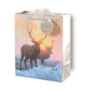 Giftmaker Photographic Stag Gift Bag Large (XAKGB66L)