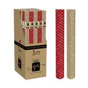 Giftmaker Kraft Stars Roll Wrap 3mt (XAKGW151)