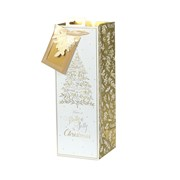 Tom Smith Golden Foliage Gift Bag Bottle (XAKTB503B)