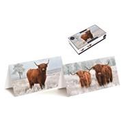 Tom Smith Luxury Slim Highland Cows Cards 20s (XAKTC506)