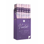 Violet Winter Wonderland Roll Wrap 4m (XBV-17-4GW)
