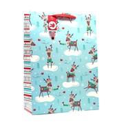 Violet Reindeer Gift Bag Xlarge (X-BV-2-XL)