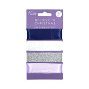 Violet Believe In Christmas Ribbon 4x2m (XBV-4-4R)