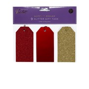 Gift Tags Glitter Merry & Bright 9s (XBV-48-9GGT)