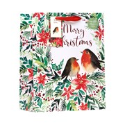 Christmas Robin Gift Bag Medium (XBV-80-M)