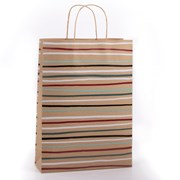 Eco Nature Eco Nat Stripe Gift Bag Large (XECOB102)