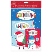 Christmas Activity Books 3 Pack (XK0044)