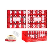 Red & White Saucer Crackers 8s (XM6076)