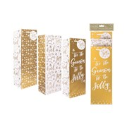 Christmas Gift Bags 3 Pack Gold Bottle (XM6110)