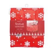 Pvc Tablecloth Snowflake Red 178cm (XMA168819)