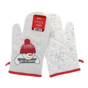 Let It Snow Oven Mitts (XMA201622)