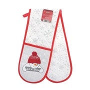 Let It Snow Dble Oven Gloves (XMA201646)