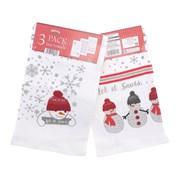 3pk Let It Snow Tea Towels (XMA201806)
