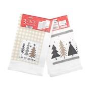 3pk Hap Tree Christmas Tea Towels (XMA201820)